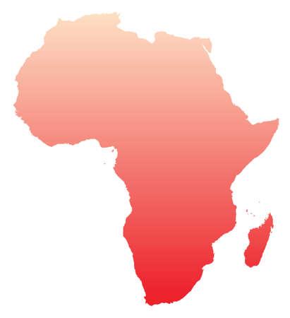 mapa rojo de �frica