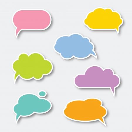 set of colorful speech bubbles Çizim