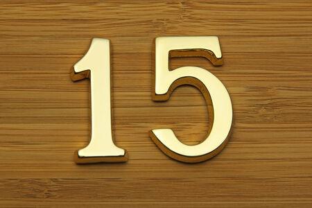 fifteen: Number fifteen, house address plate number Stock Photo