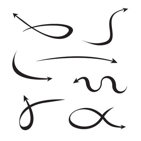 flechas curvas: flechas curvas negras establecen Vectores