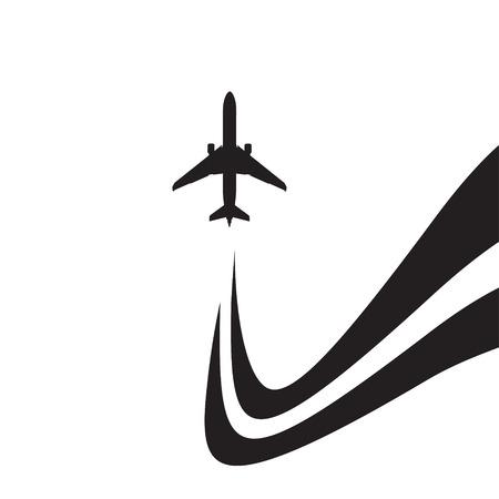 undercarriage: black airplane icon  Illustration