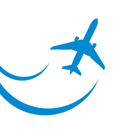 jetliner: blue airplane icon