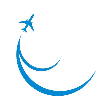 undercarriage: blue airplane silhouette  Illustration