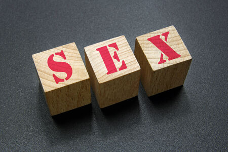 sex word on wood cubes photo