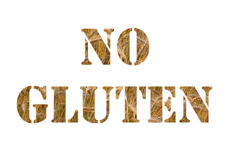 no gluten text  photo