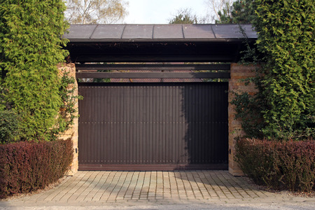 garagedeur Stockfoto