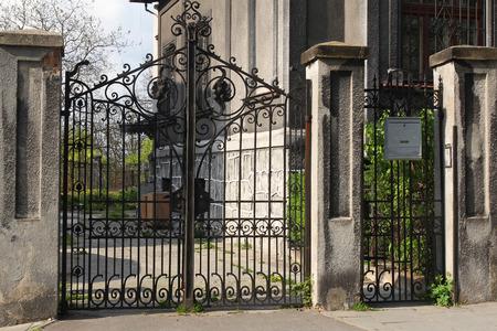black wrought gate photo
