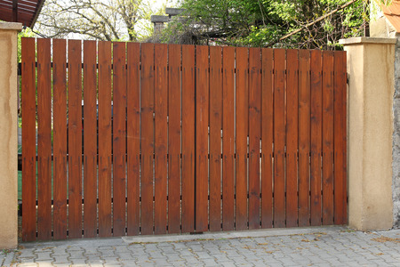 wooden gate Stock fotó