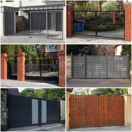 set of modern gates photo