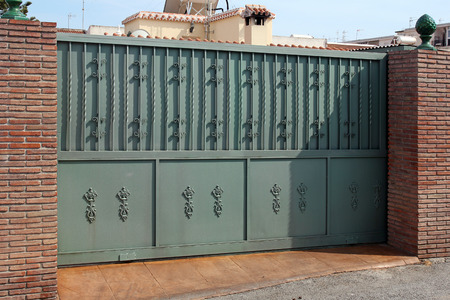 green modern gate  photo