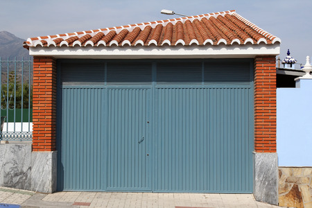 blue metal gate  photo