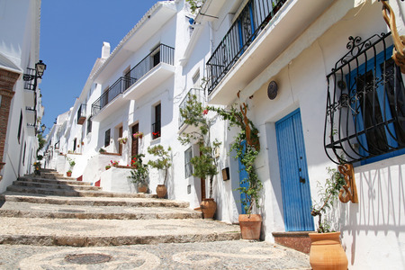 frigiliana: picturesque Frigiliana- one of white towns in Andalusia, Spain