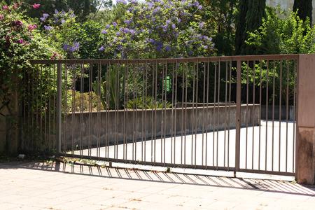 open garden gate: modern gate