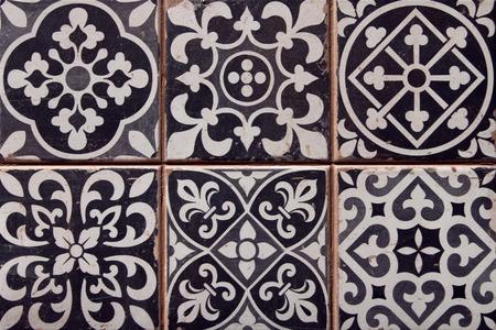 close-up van de typische Spaanse tegels Stockfoto