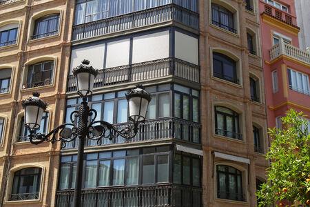 attics: corner part of the beautiful Spanish town house