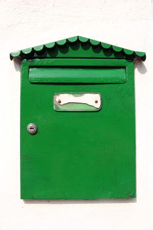 letterbox: green letterbox  Stock Photo