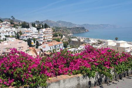 Nerja famous resort on Costa del Sol, Malaga, Spain  photo