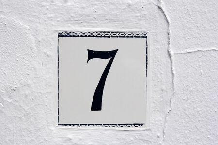 stoneware: spanish street number 7