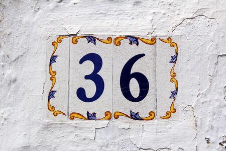 number 36: spanish street number 36