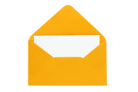 enveloped: yellow open enveloped with blank card