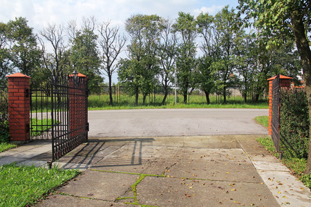 Open metal modern gate photo