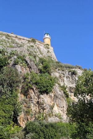 Lighthouse in Corfu, Greece photo