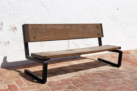 wooden bench: wooden bench Stock Photo
