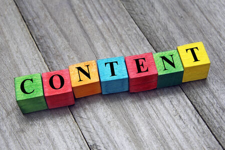 concept of  content word on wooden cubes photo