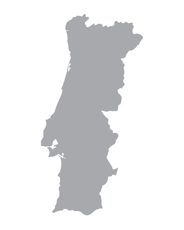 grey map of Portugal