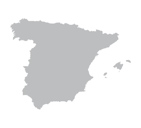 grey map of Spain Illustration
