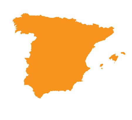 orange map of Spain