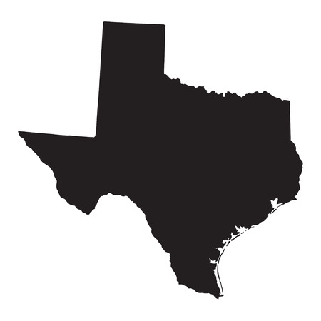 zwarte kaart van Texas