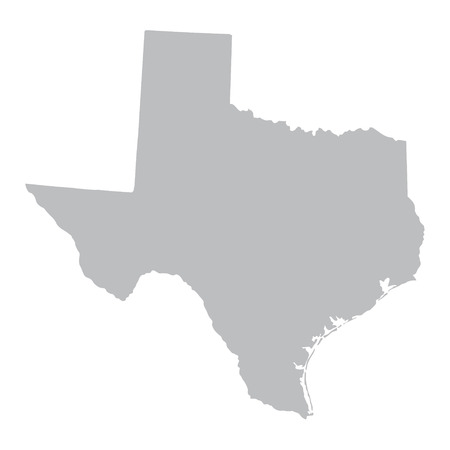 grey map of Texas Vector