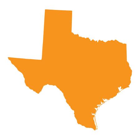 orange county: orange map of Texas