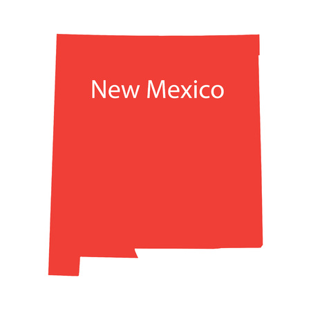 prefecture: red map of New Mexico