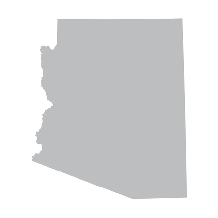 grey map of Arizona Vector