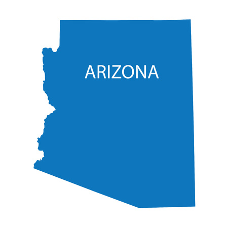 blue map of Arizona Vector