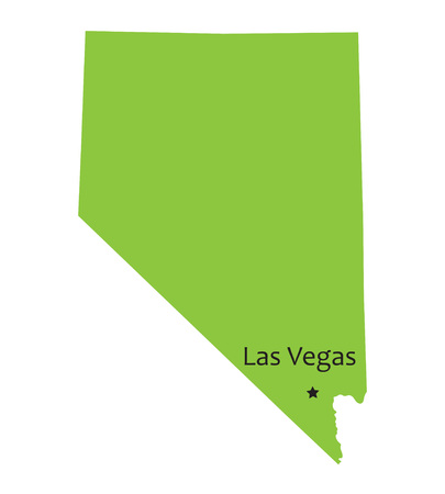 extensive: green map of Nevada