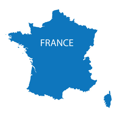 corsica: blue map of France