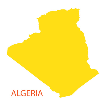 berber: yellow  map of Algeria