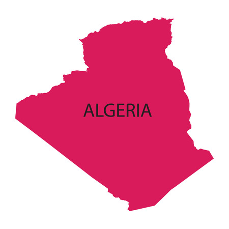 berber: pink map of Algeria