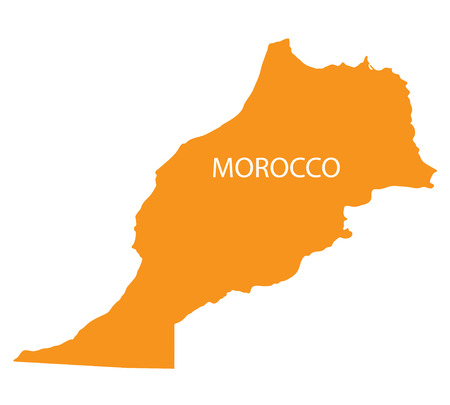 berber: orange map of Morocco