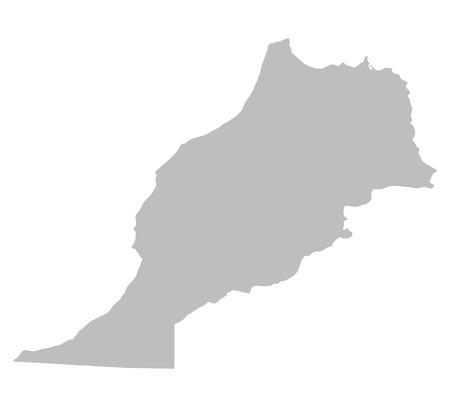gris Mapa de Marruecos