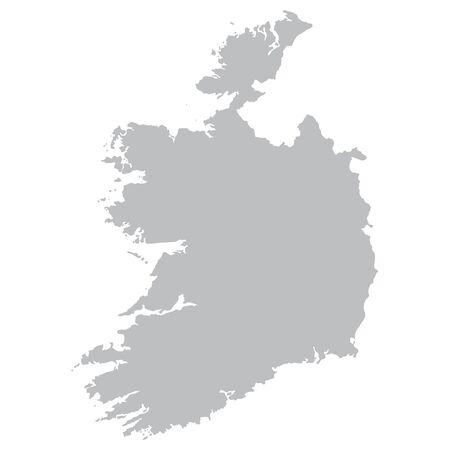 od: grey map od Ireland