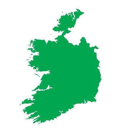 od: green map od Ireland Illustration