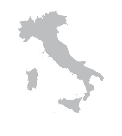 grey map of Italy Vector