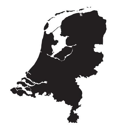 zwarte kaart van Nederland