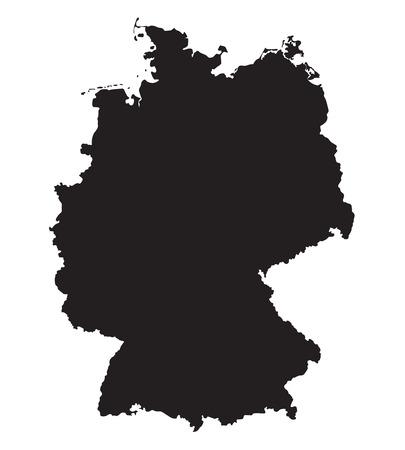 frankfurt germany: black map of Germany