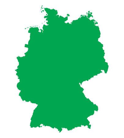 frankfurt germany: green map of Germany Illustration