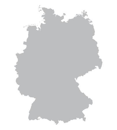 grijze kaart van Duitsland